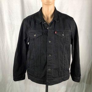 Levi's Men XL Black Jean Jacket Denim